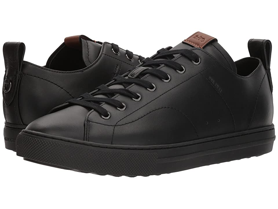COACH C121 Leather Low Top (Black) Men