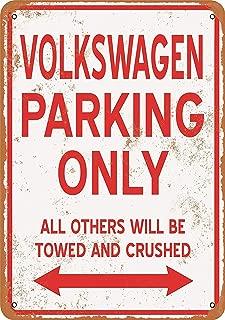 Bidesign 8 x 12 Metal Sign - Vintage Look Volkswagen Parking ONLY
