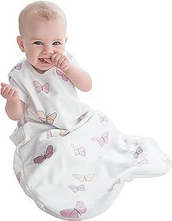 Woolino 4 Season Basic Merino Wool Baby Sleeping Bag, 0-6 Months, Butterfly