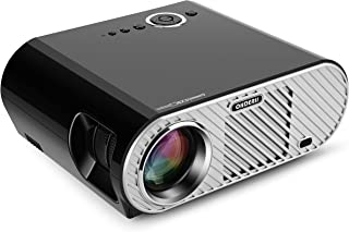 Ohderii Projector, Christmas Projector Multimedia Home Theater Projectors 1280 800 Native Resolution Support 1080P HD-Ideal for Outdoor Indoor Movie Or Video Games (GP90)