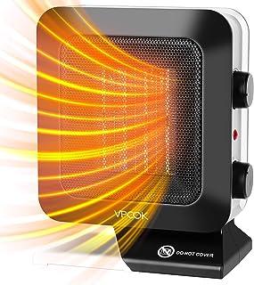 VPCOK Calefactor Ceramico Bajo Consumo Calefactor de Aire Caliente, Calefactor Eléctrico 1400W, 3 Modos, Termostato Regula...