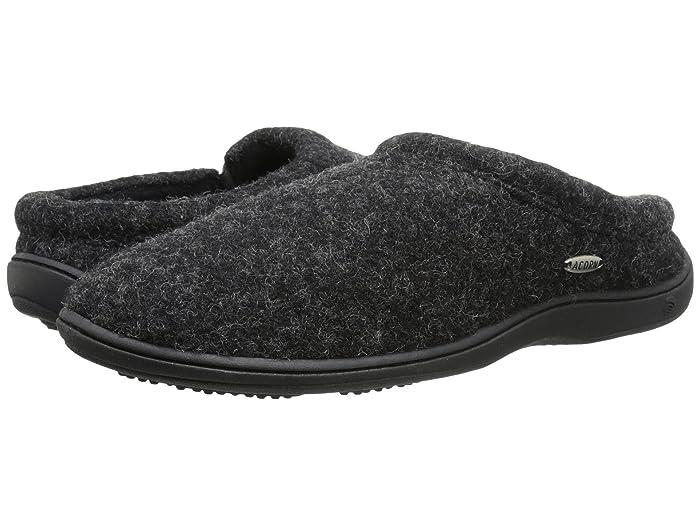 Acorn  Digby Gore (Black Tweed) Mens Slippers