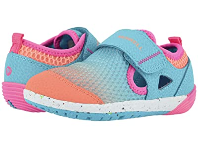 Merrell Kids Bare Steps H20 (Toddler) (Turquoise/Coral) Girls Shoes