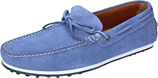 TRIVER FLIGHT Loafer Flats Mens Suede Turquoise