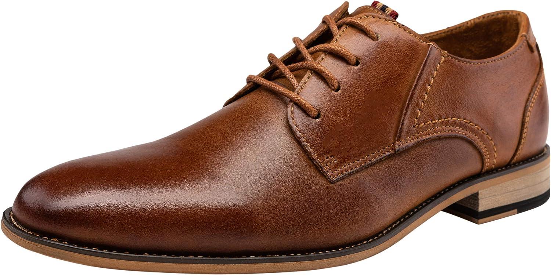Jousen Men's Dress Shoes Leather Classic Formal Mens Oxfords Retro Derby Oxford