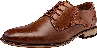 JOUSEN Men's Oxford Retro Leather Formal Dress Shoes