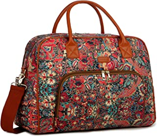BAOSHA Patterned Polyester Travel Duffel Tote Bag Carry On Weekender Overnight Bag for Women HB-33 (HS)