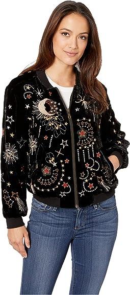 Callisto Velvet Bomber Jacket