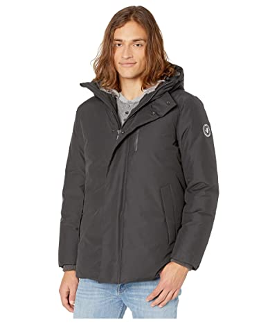 Save the Duck Copy 9 Hooded Parka with Faux Fur Lining (Grey/Black) Men