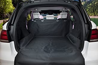 BarksBar Original Pet Cargo Cover & Liner for Dogs - 80 x 52 Black, Waterproof Machine Washable with Bumper Flap Protectio...