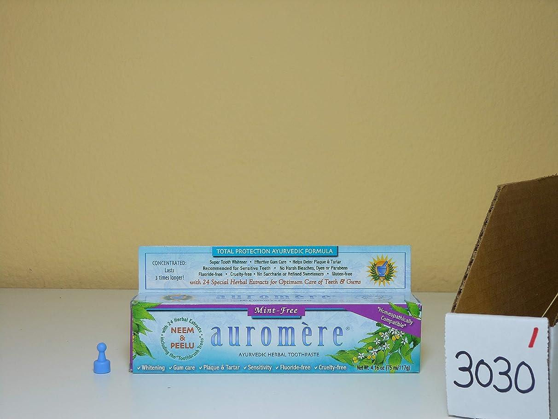 シニス分析奪う3個セット オーロメア アーユルヴェーダ ハーバル歯磨き粉 ミントフリー 117g[海外直送品]