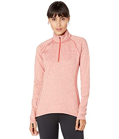 Burton Heavyweight X Base Layer 1/4 Zip (Cranberry Heather) Women
