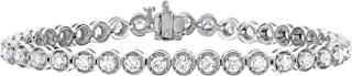 4 cttw Diamond Tennis Bracelet 14K White Gold I1-I2 Clarity