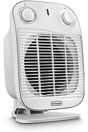 sistema silencioso Delonghi HVS3031 funci/ón antihielo 2200 w ventilaci/ón verano Termoventilador cromado negro y cromado 3 niveles calefacci/ón