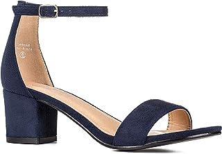 Women's Fashion Ankle Strap Kitten Heel Sandals - Adorable Cute Low Block Heel - Jasmine