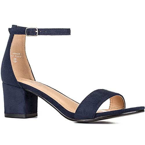 d4ee4c9c1d8 Navy Blue Block Heels: Amazon.com