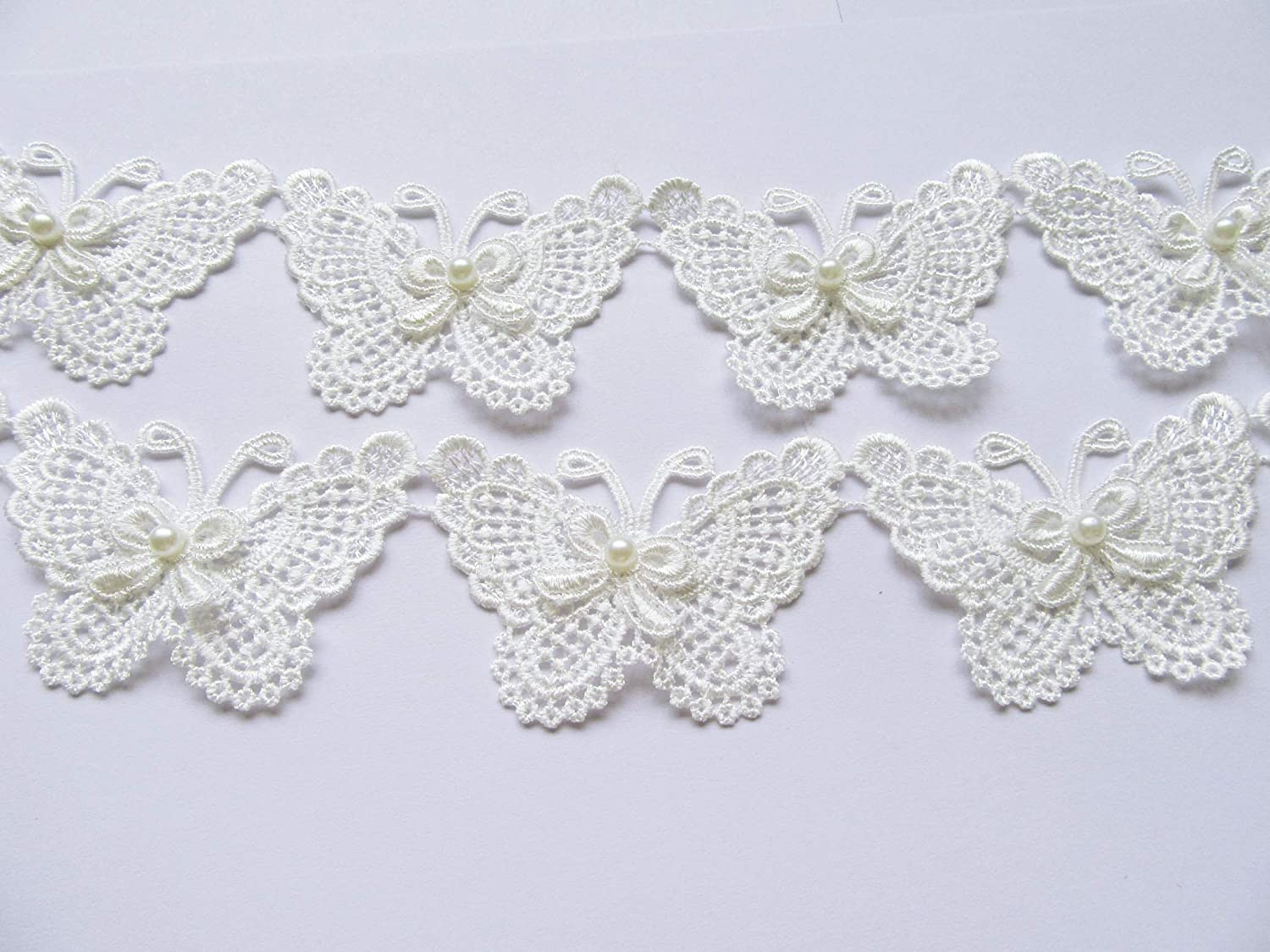 XiXiboutique 5 Yards Butterfly Challenge the lowest price of Japan Lace Applique Trim Wedding DIY Se Direct stock discount