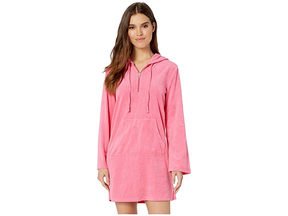Juicy Couture Microterry Hooded Dress (Lotus Flower) Women