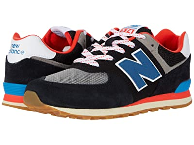 New Balance Kids 574 Core Plus (Big Kid) (Black/Neo Classic Blue) Boys Shoes