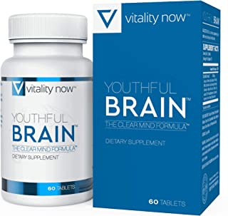 Youthful Brain | Memory & Brain Health Support Supplement - Doctor Formulated Brain Booster with Bacopa Monnieri, Ginkgo B...