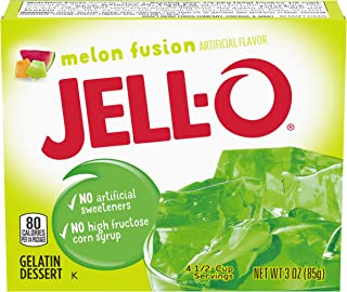 JELL-O Melon Fusion Gelatin Dessert Mix (3 oz Box)