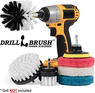 Drillbrush Cleaning Supplies - Detail Brush Set - Upholstery Cleaner - Carpet Cleaner Scrub Brush - Auto Brush Cleaning - Drill Brush Pads - Rotary Drill Brush Cordless Scrubber - Auto Leather Cleaner