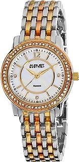 August Steiner Women's Vida Analogue Display Swiss Quartz Watch with Alloy Bracelet
