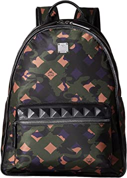 MCM Dieter Munich Lion Camo Nylon Medium Backpack