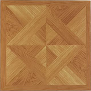 Achim Home Furnishings FTVWD20220 Nexus 12-Inch Vinyl Tile, Wood Ligh, Classic Light Oak Diamond Parquet