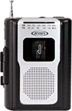 Jensen Retro Portable AM/FM Radio Personal Cassette Player Compact Lightweight Design..
