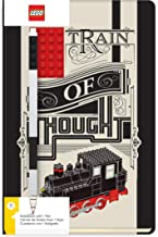 LEGO Stationery Train of Thought Hardcover Notebook with 4x6 Red Brick and Black Gel Pen Set