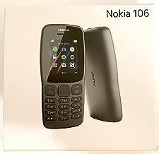 $32 Get Nokia 106 Single Sim (2018) TA-1190 Dual-Band (850/1900) Factory GSM Unlocked Feature Phone (International Model)