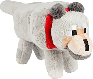 JINX Minecraft Wolf Plush Stuffed Toy (Grey, 15