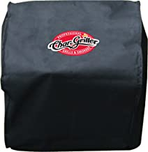 Char-Griller 2455 Table Top Grill/Side Fire Box Cover, Black