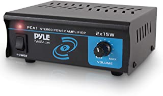 Pyle PCA1.5 2x15 Watt Stereo Power Amplifier - Compact Mini 2-Channel Portable Home Audio Speaker Receiver Box for Amplifi...
