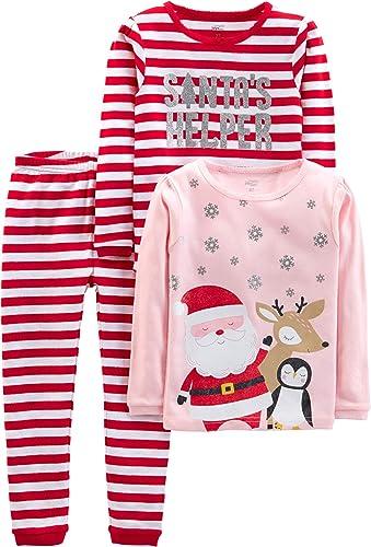 Simple Joys by Carter's Unisex - Bambini set pigiama satinato, Pacco da 3