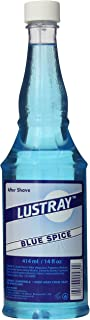 Lustray Blue Spice After Shave, 14 Ounce