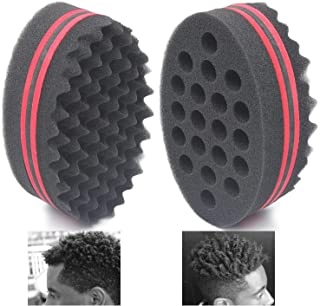AIR TREE Big Holes Magic Barber Sponge Brush Twist Hair For Wave,Dreadlock,Coils,Afro..
