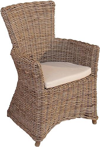 moebel direkt online Rattansessel _ Einzelsessel _ handgeflochten Sessel mit Kissen
