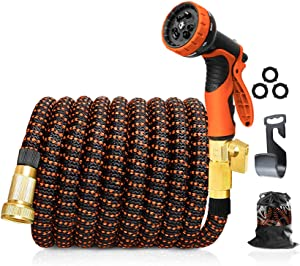 150FT Expandable Garden Hose with Triple Layer Latex Core, 3/4