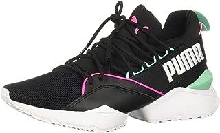 PUMA Womens Muse Maia Mesh Colorblock Sneakers Black 7.5 Medium (B,M)
