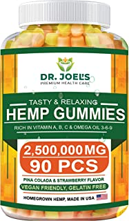 Premium Gummies - 2,500,000 MG, Maximum Strength - 90 cts - Anxiety, Pain, Stress, Nausea, Inflammation Support - Healthy ...