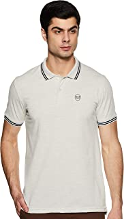 MAX Men's Solid Slim Fit Polo