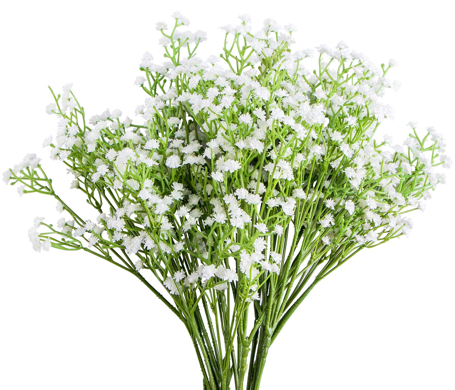 Foraineam 12-Pack Baby Breath Artificial Flowers Bouquets Real Touch Wedding Home Garden Party Decor Gypsophila Fake Plants
