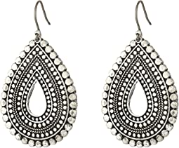 Lucky Brand Blue Moon Tribal Tear Drop Earrings