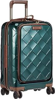 [ストラティック] スーツケース レザー&モア 機内持込 33L 3.30kg フロントオープン(前開き) 4輪ダブルキャスター 本革 ドリンクホルダー機能 可(国際線、国内線100席以上、3辺合計115cm以内) 保証付 55 cm 3.3kg