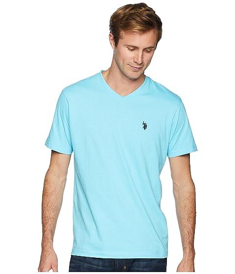 Solid V POLO Short T Sleeve Shirt U ASSN Neck S PqHCwXXgA