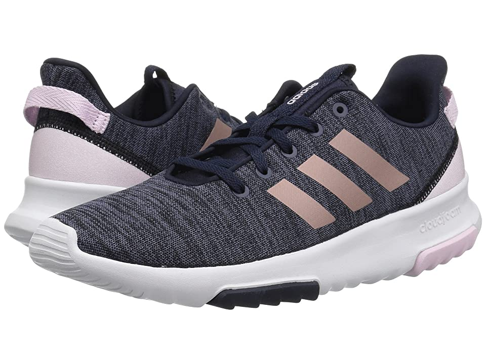 adidas Kids Cloudfoam Racer TR (Little Kid/Big Kid) (Legend Ink/Vapor Grey Metallic/Aero Pink) Kids Shoes