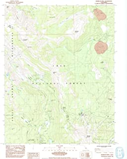 California Maps - 1984 Mammoth MTN, CA USGS Historical Topographic Map - Cartography Wall Art - 35in x 44in