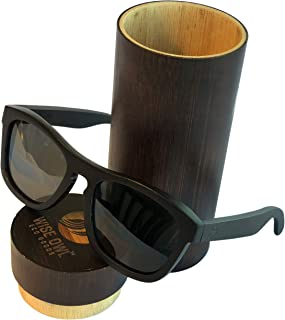 Wiseowl High-End Polarized Ebony Wood Sunglasses | Eco-friendly, Lightweight Wooden Sunglasses For Men & Women